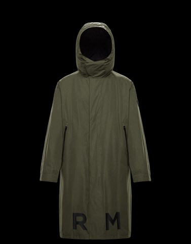 COFFRE Dark green Category Long outerwear Man