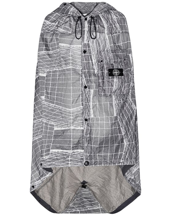 Cloak Man 96099 REFLECTIVE GRID ON LAMY-TC Front STONE ISLAND