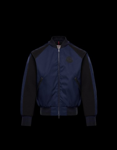 BERCOT Dark blue Category Bomber Jacket Man
