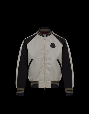 BERCOT Light grey Category Bomber Jacket Man