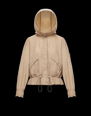 ALBIREO Beige Windbreakers Woman