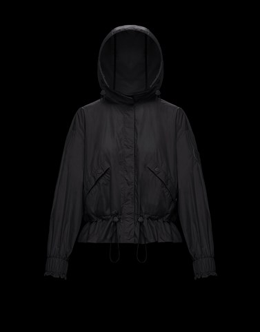 ALBIREO Black Category Windbreakers Woman