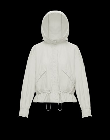 ALBIREO White Category Windbreakers Woman