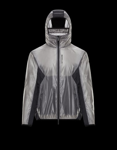 HUIT Grey Category Windbreakers Man