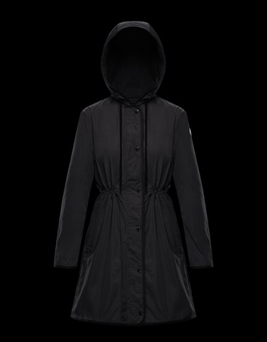LEBRIS Black Windbreakers Woman