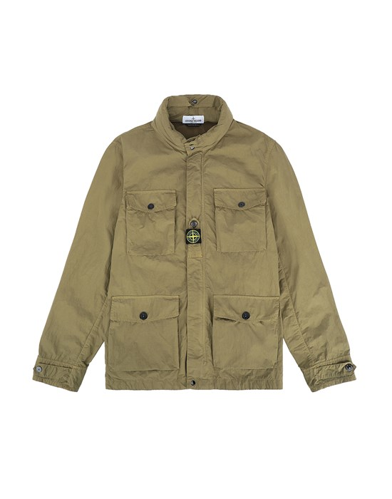 STONE ISLAND JUNIOR 40430 Jacket Man Olive Green