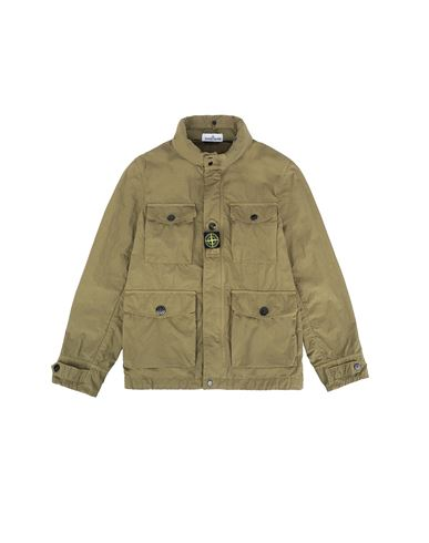 STONE ISLAND JUNIOR 40430 Jacket Man Olive Green USD 418