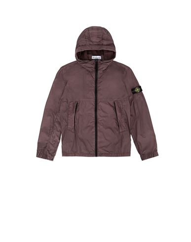 STONE ISLAND JUNIOR 40233 CRINKLE REPS NYLON Jacket Man Dark Burgundy EUR 290