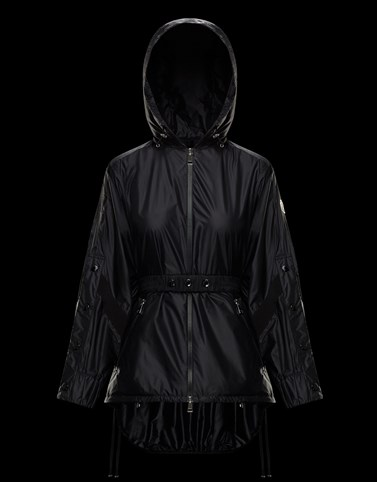 ANCHAT Black Windbreakers Woman