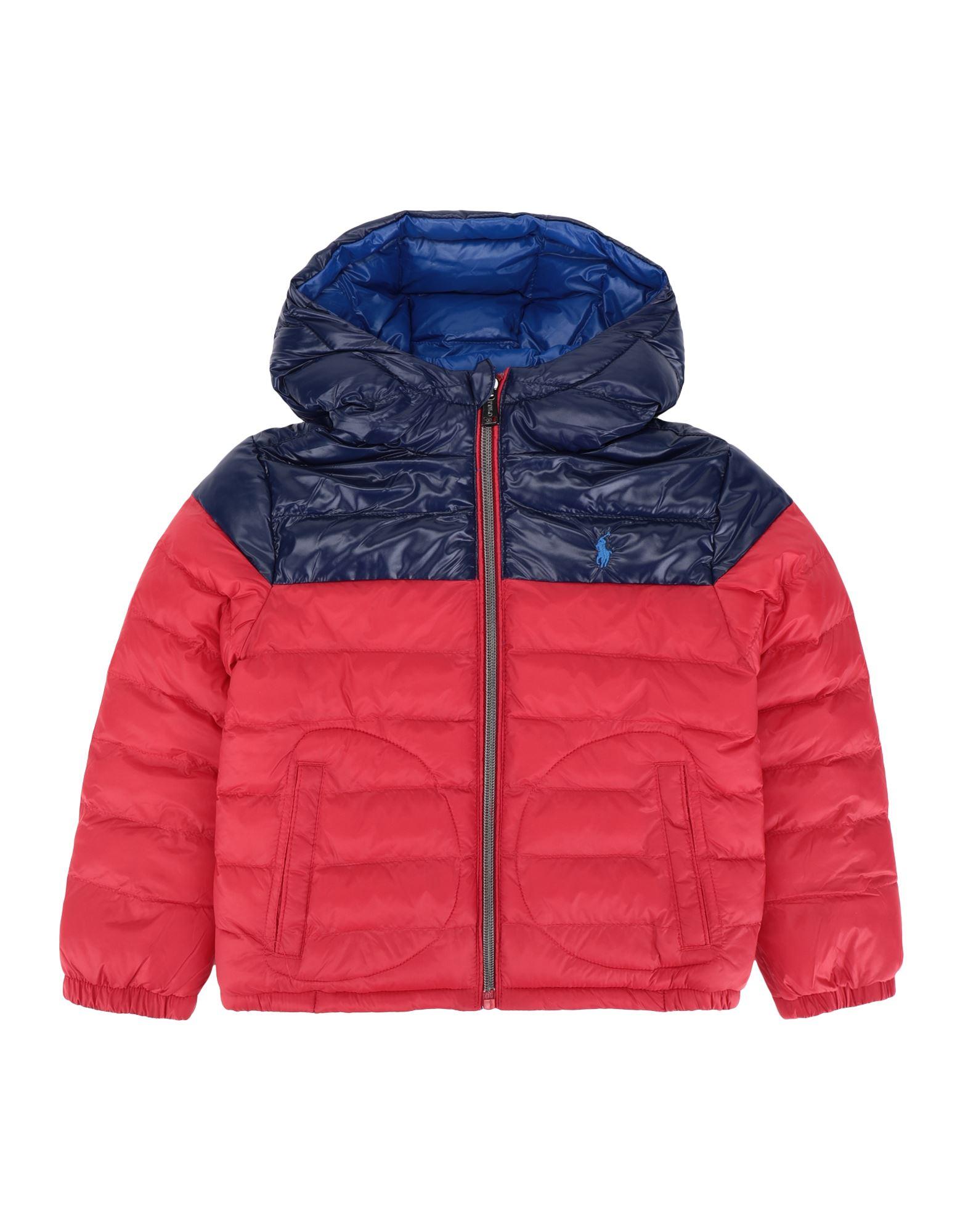 《セール開催中》RALPH LAUREN ボーイズ 3-8 歳 合成繊維中綿アウター レッド 5 リサイクル ナイロン 100% Reversible Water-Resistant Jacket