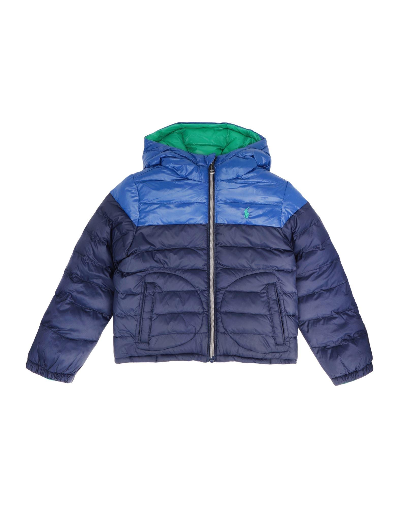 《セール開催中》RALPH LAUREN ボーイズ 3-8 歳 合成繊維中綿アウター ダークブルー 6 リサイクル ナイロン 100% Reversible Water-Resistant Jacket