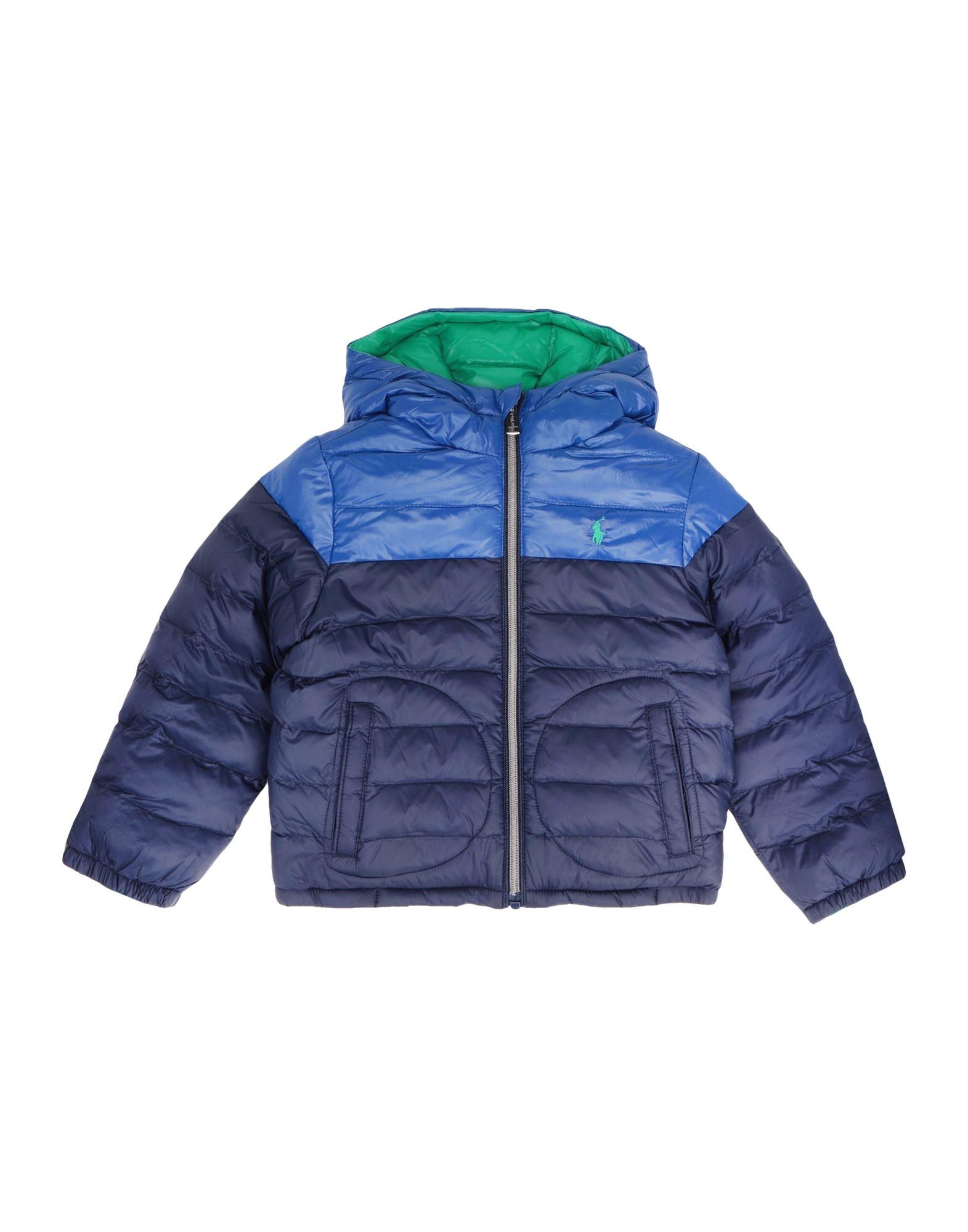 《セール開催中》RALPH LAUREN ボーイズ 3-8 歳 合成繊維中綿アウター ダークブルー 8 リサイクル ナイロン 100% Reversible Water-Resistant Jacket