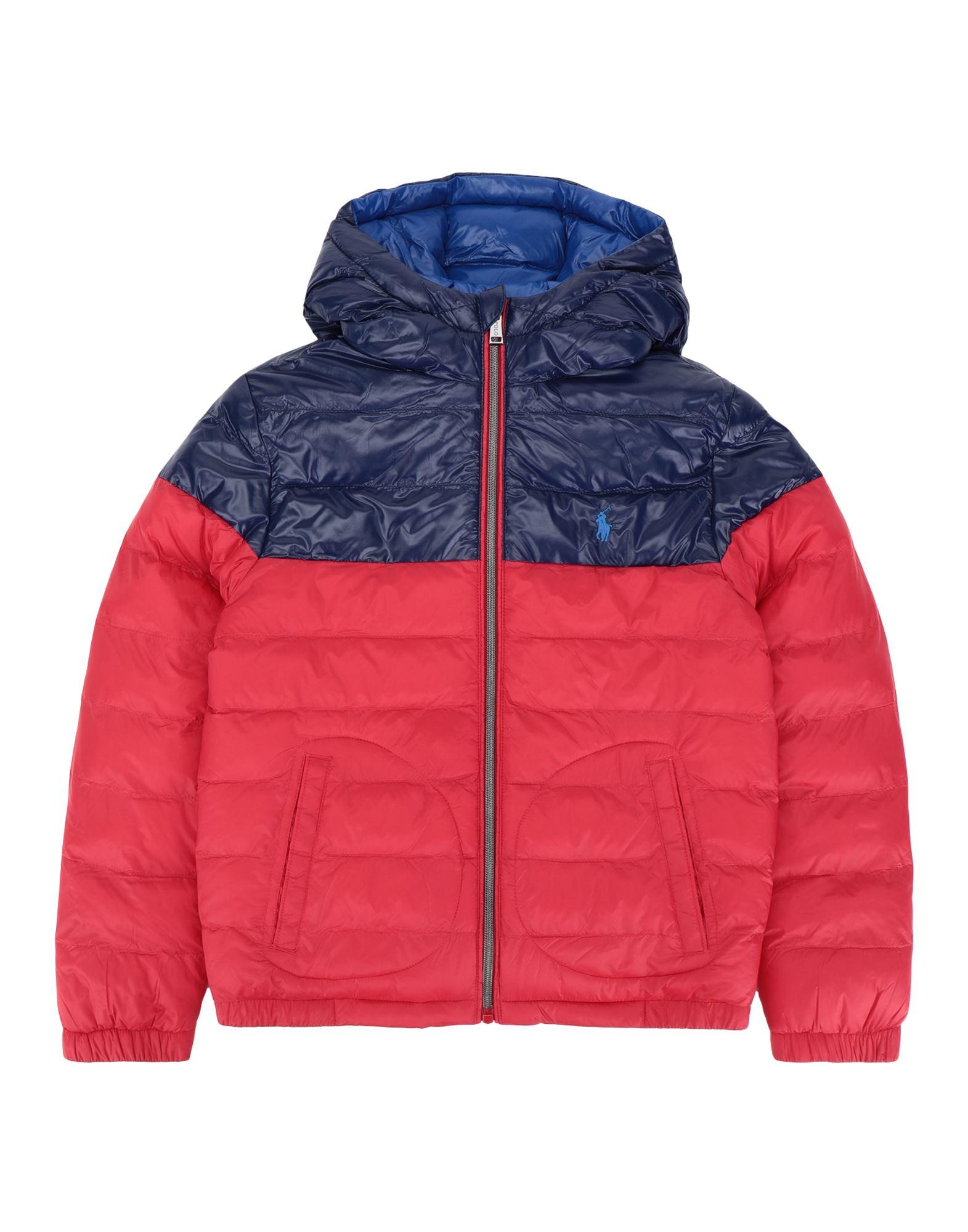 《セール開催中》RALPH LAUREN ボーイズ 9-16 歳 合成繊維中綿アウター レッド 10 リサイクル ナイロン 100% Reversible Water-Resistant Jacket