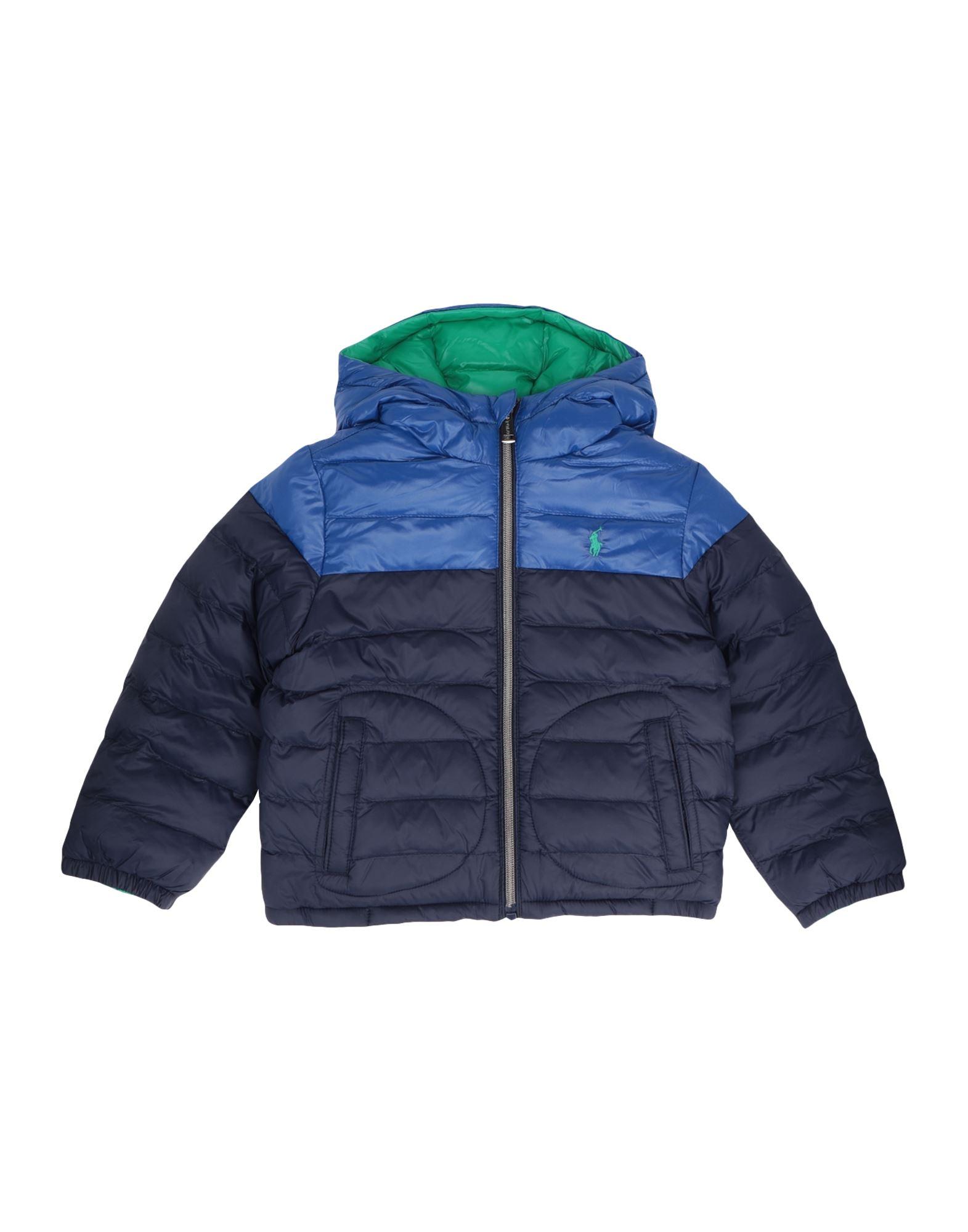 《セール開催中》RALPH LAUREN ボーイズ 3-8 歳 合成繊維中綿アウター ダークブルー 3 リサイクル ナイロン 100% Reversible Water-Resistant Jacket