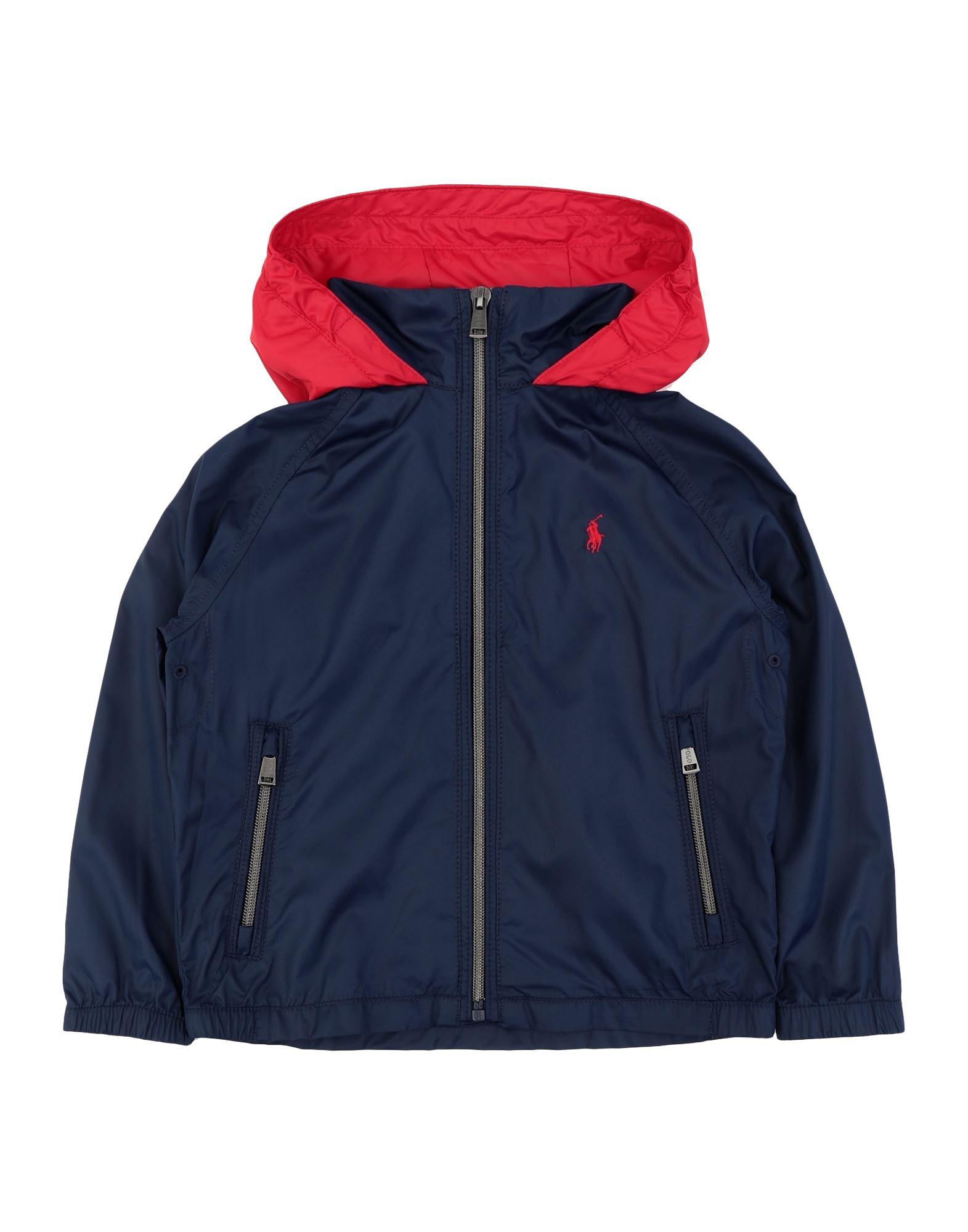 《セール開催中》RALPH LAUREN ボーイズ 3-8 歳 ブルゾン ダークブルー 6 ポリエステル 100% Water-Resistant Packable Hooded Jacket