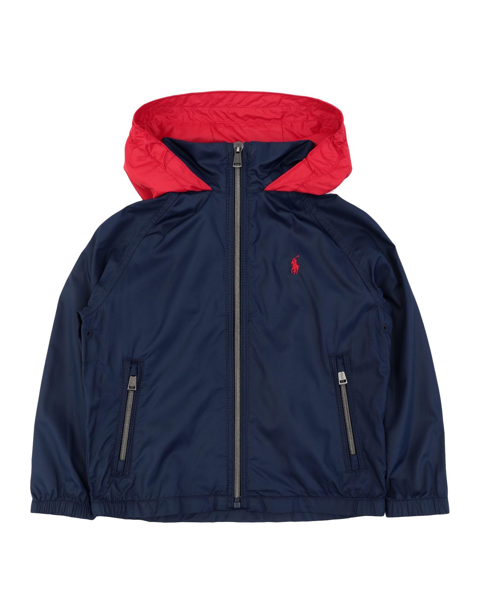 《セール開催中》RALPH LAUREN ボーイズ 3-8 歳 ブルゾン ダークブルー 3 ポリエステル 100% Water-Resistant Packable Hooded Jacket