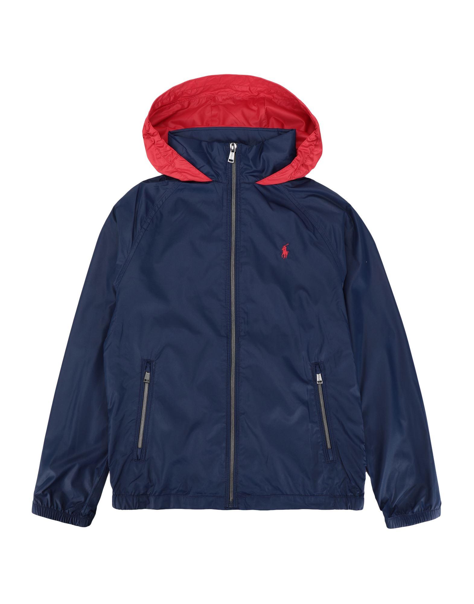《セール開催中》RALPH LAUREN ボーイズ 3-8 歳 ブルゾン ダークブルー 8 ポリエステル 100% Water-Resistant Packable Hooded Jacket