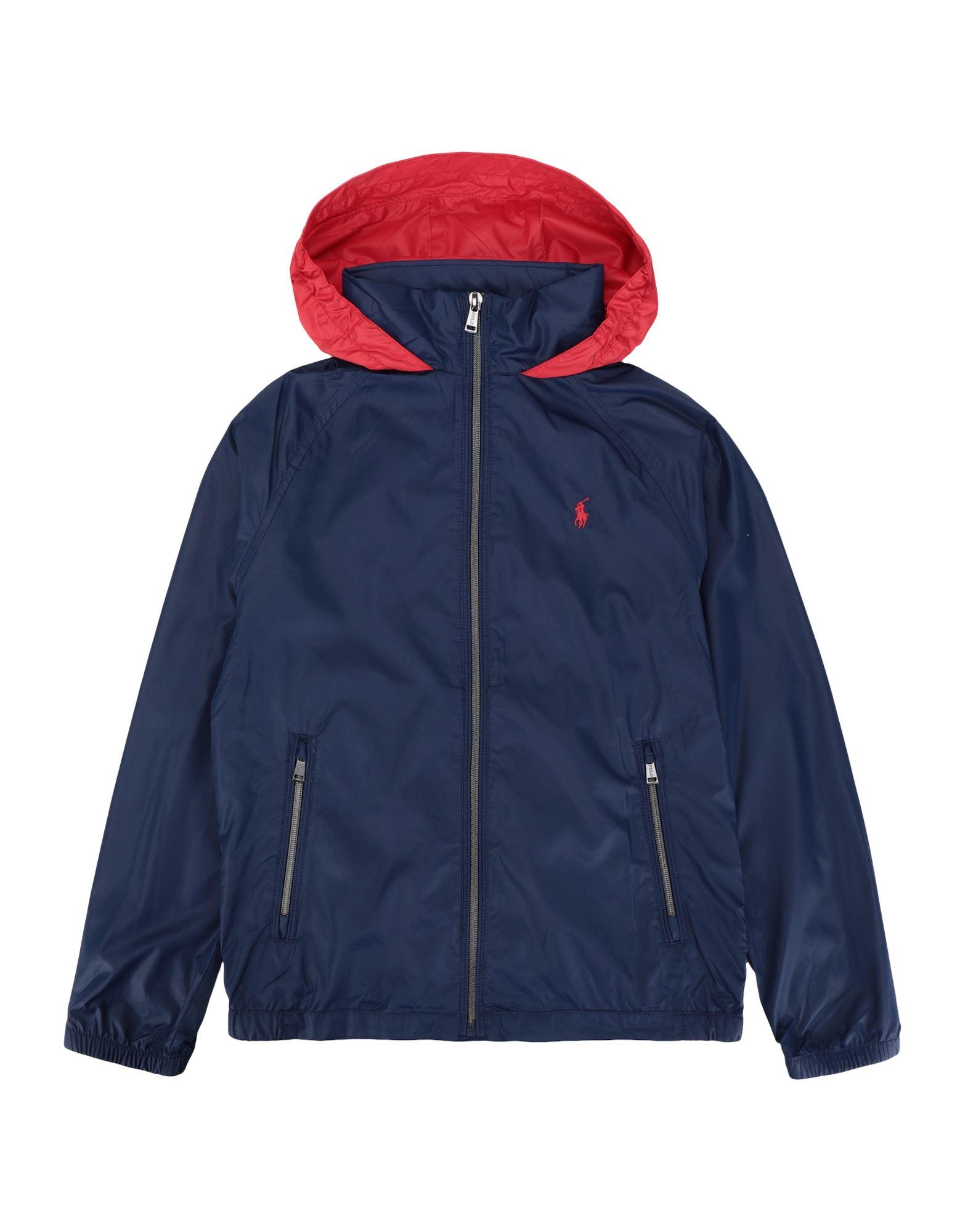 《セール開催中》RALPH LAUREN ボーイズ 9-16 歳 ブルゾン ダークブルー 14 ポリエステル 100% Water-Resistant Packable Hooded Jacket