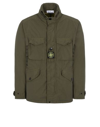 STONE ISLAND 41732 NASLAN LIGHT WATRO  Jacket Man Olive Green USD 1132