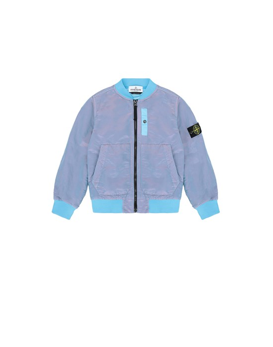 Jacket Man 40737 NYLON METAL COLOURED WEFT/TYVEK® Front STONE ISLAND KIDS