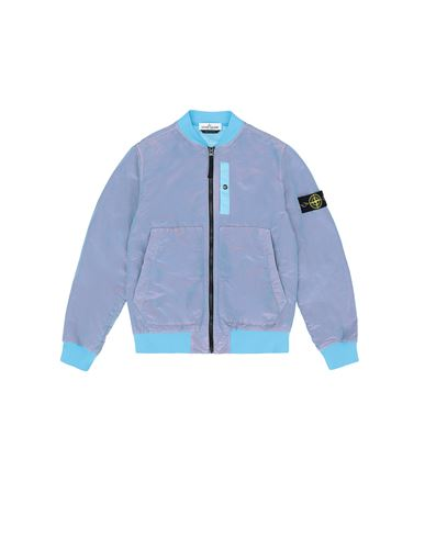 STONE ISLAND JUNIOR 40737 NYLON METAL COLOURED WEFT/TYVEK® 休闲夹克 男士 绿松石色 EUR 483