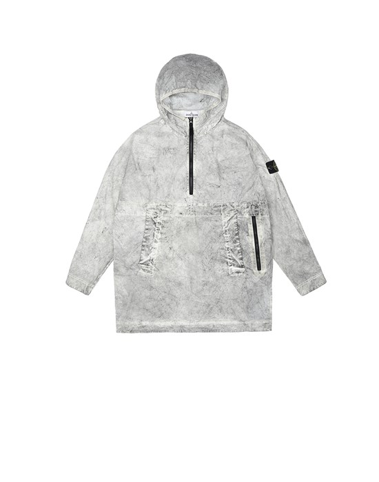 Jacket Man 41236 DUST COLOUR TREATMENT_PACKABLE Front STONE ISLAND JUNIOR
