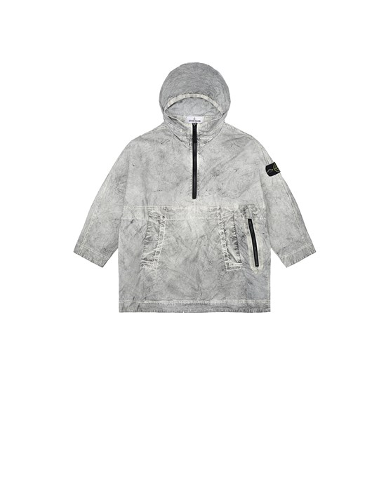 Jacket Man 41236 DUST COLOUR TREATMENT_PACKABLE Front STONE ISLAND KIDS