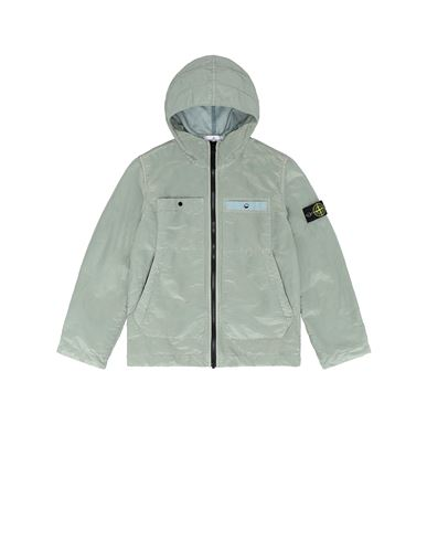 STONE ISLAND JUNIOR 40637 NYLON METAL COLOURED WEFT/TYVEK® Jacket Man Dust Grey EUR 442
