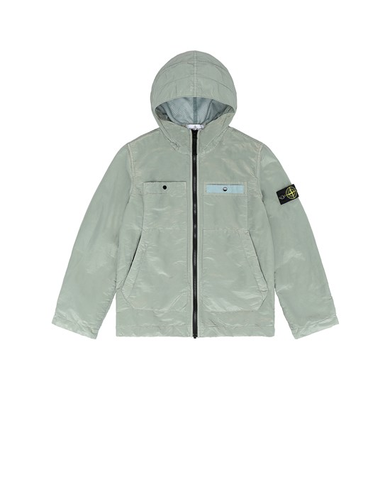 STONE ISLAND JUNIOR 40637 NYLON METAL COLOURED WEFT/TYVEK® Jacket Man Dust Gray