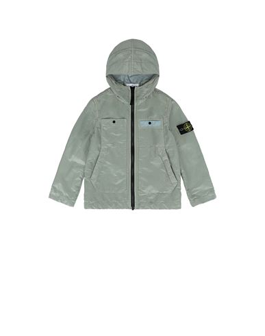STONE ISLAND KIDS 40637 NYLON METAL COLOURED WEFT/TYVEK® Jacket Man Dust Grey EUR 395