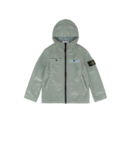 Jacket Man 40637 NYLON METAL COLOURED WEFT/TYVEK® Front STONE ISLAND KIDS