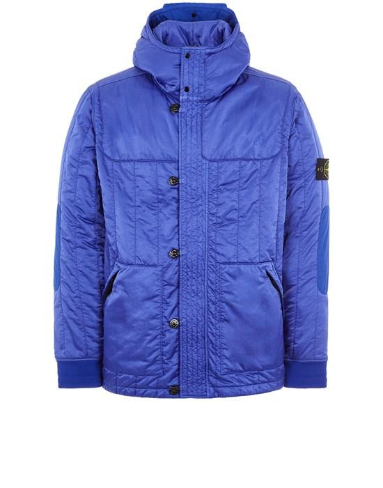STONE ISLAND 40921 NYLON RASO QUILTED-TC Mid-length jacket Man Periwinkle