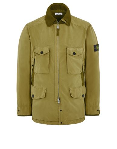 STONE ISLAND 41031 DAVID LIGHT-TC WITH MICROPILE Mid-length jacket Man Dark Beige EUR 879