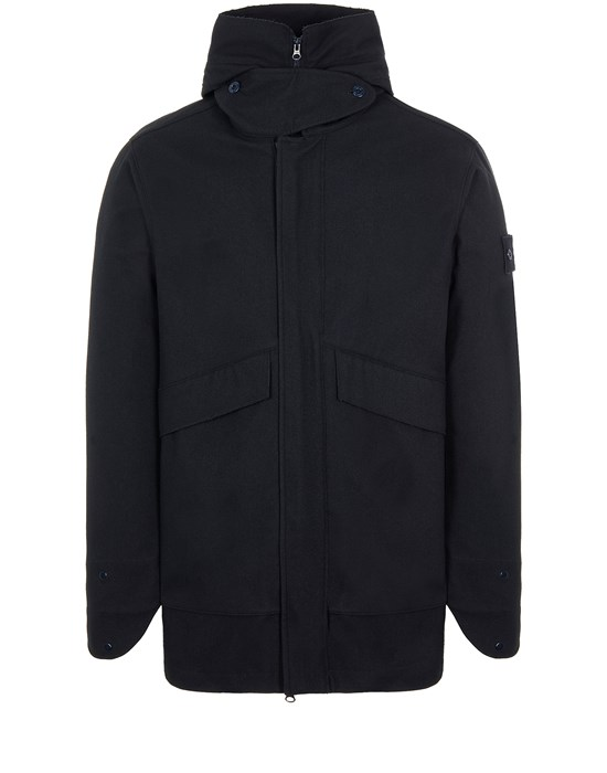 STONE ISLAND 442F1 SW 3L DOWN_GHOST PIECE WITH DETACHABLE LINING Mid-length jacket Man Blue