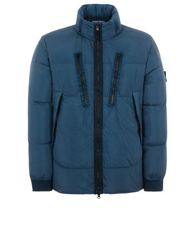STONE ISLAND 40223 GARMENT DYED CRINKLE REPS NY DOWN-TC Mid-length jacket Man Teal EUR 819