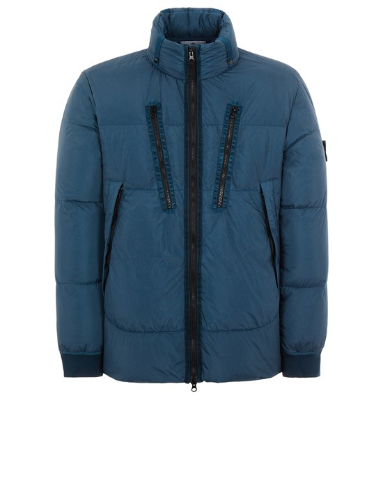 Mid-length jacket Man 40223 GARMENT DYED CRINKLE REPS NY DOWN-TC Front STONE ISLAND