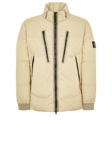 STONE ISLAND 40223 GARMENT DYED CRINKLE REPS NY DOWN-TC Mid-length jacket Man Ecru EUR 819