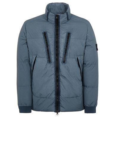 STONE ISLAND 40223 GARMENT DYED CRINKLE REPS NY DOWN-TC Mid-length jacket Man Pastel Blue EUR 819