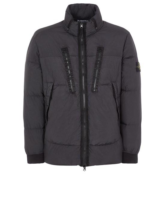 STONE ISLAND 40223 GARMENT DYED CRINKLE REPS NY DOWN-TC Mid-length jacket Man Black