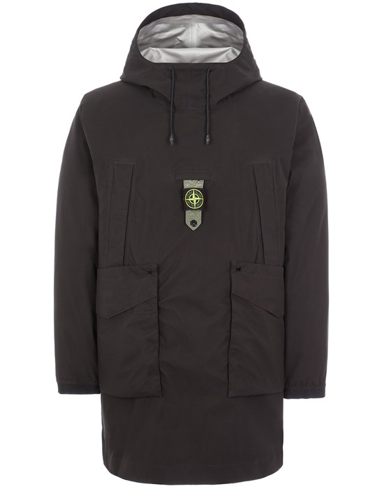 STONE ISLAND 711G2 RIPSTOP GORE-TEX WITH PACLITE® PRODUCT TECHNOLOGY / NYLON METAL DOWN-TC_PACKABLE LONG JACKET Man Black