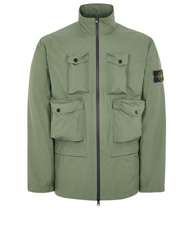 STONE ISLAND 40430 RIPSTOP GORE-TEX WITH PACLITE® PRODUCT TECHNOLOGY_PACKABLE Mid-length jacket Man Sage Green EUR 935