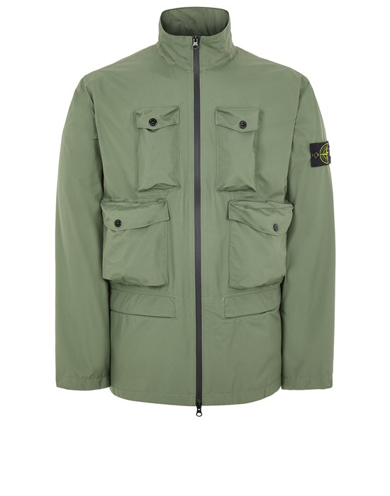 Mid-length jacket Man 40430 RIPSTOP GORE-TEX WITH PACLITE® PRODUCT TECHNOLOGY_PACKABLE Front STONE ISLAND