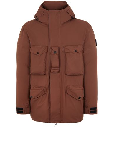 STONE ISLAND 40330 RIPSTOP GORE-TEX CON PACLITE® PRODUCT TECHNOLOGY DOWN Mid-length jacket Man MAHOGANY BROWN EUR 1149