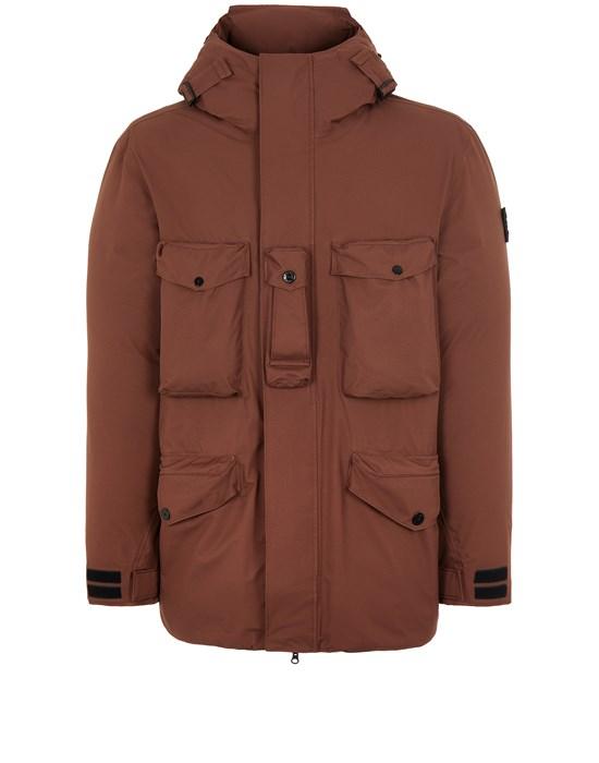 STONE ISLAND 40330 RIPSTOP GORE-TEX PRODUCT TECHNOLOGY DOWN  Mid-length jacket Man MAHOGANY BROWN
