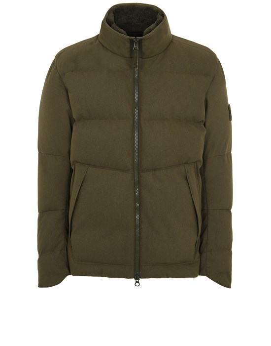 STONE ISLAND 440F1 SW 3L DOWN_GHOST PIECE Mid-length jacket Man Military Green