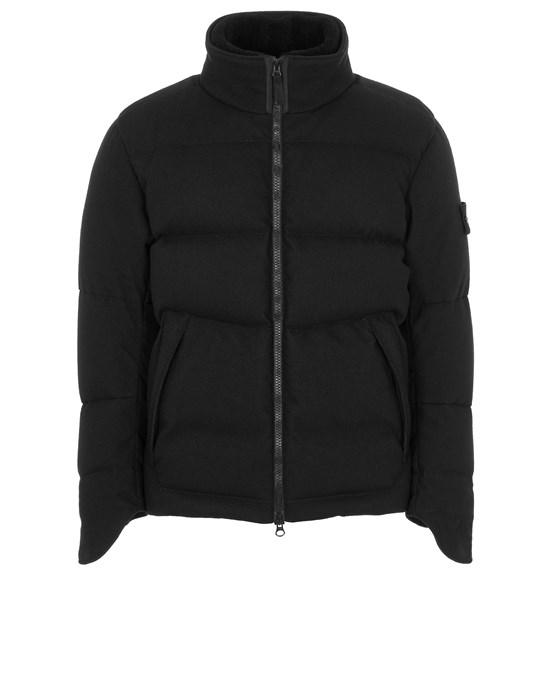 STONE ISLAND 440F1 SW 3L DOWN_GHOST PIECE Mid-length jacket Man Black