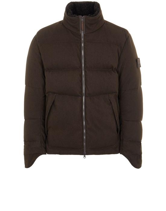 STONE ISLAND 440F1 SW 3L DOWN_GHOST PIECE Mid-length jacket Man Dark Brown