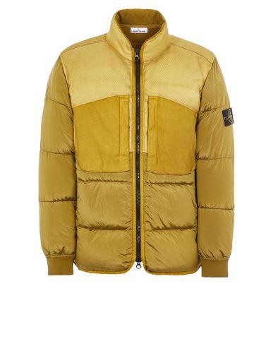 STONE ISLAND 42840 MODIFIED PANAMA 6/3 HT NYLON MIX FABRICS DOWN-TC Mid-length jacket Man Dark Beige EUR 835