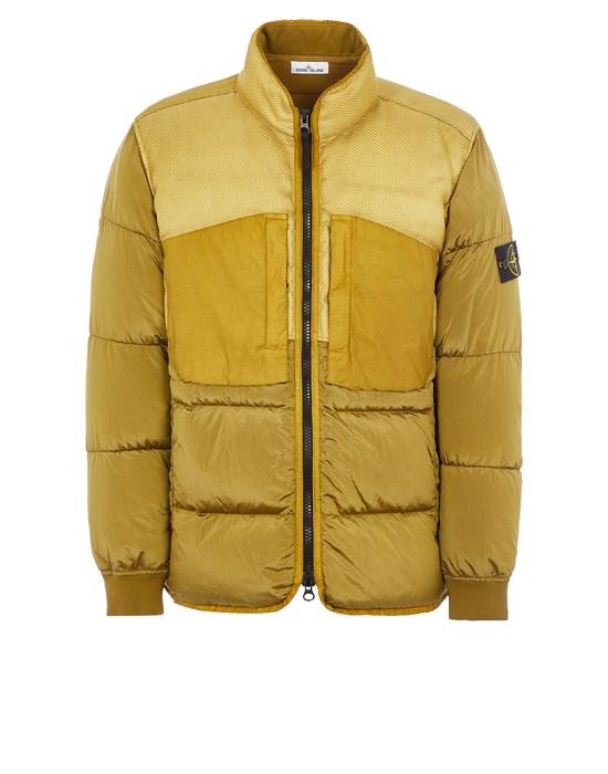 Mid-length jacket Man 42840 MODIFIED PANAMA 6/3 HT NYLON MIX FABRICS DOWN-TC Front STONE ISLAND