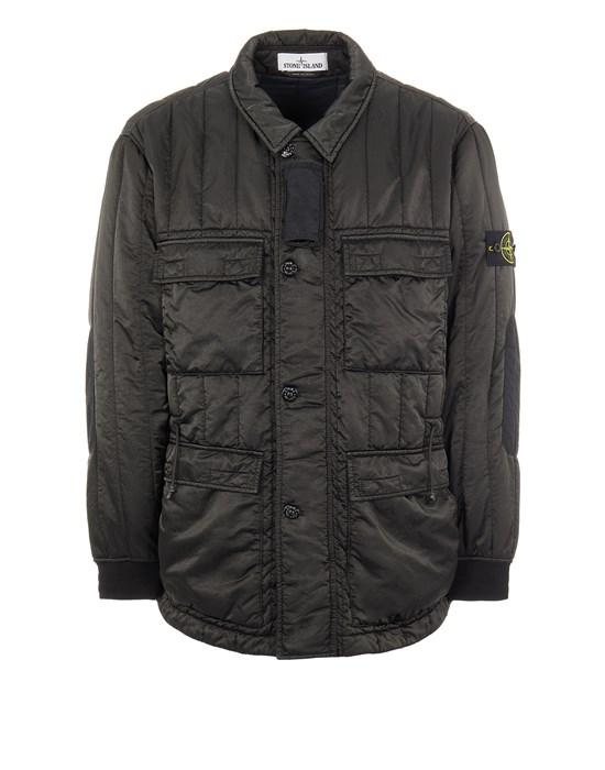 STONE ISLAND 43521 NYLON RASO QUILTED-TC Mid-length jacket Man Black